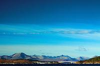 The Cuillin, Loch Alsh and the Skye Bridge from Balmacarra, Skye & Lochalsh, Highland