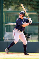 October 6, 2009:  Left Fielder Adam Milligan of the Atlanta Braves organization during an Instructional League game at Disney's Wide World of Sports in Orlando, FL. Milligan was drafted in the 6th round of the 2008 MLB Draft.  Photo by:  Mike Janes/Four Seam Images