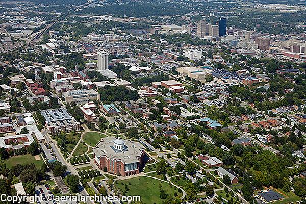 aerial photograph, William T. Young library, University of Kentucky, Lexington, Kentucky