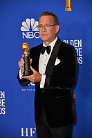 LOS ANGELES, USA. January 05, 2020: Tom Hanks in the press room at the 2020 Golden Globe Awards at the Beverly Hilton Hotel.<br /> Picture: Paul Smith/Featureflash