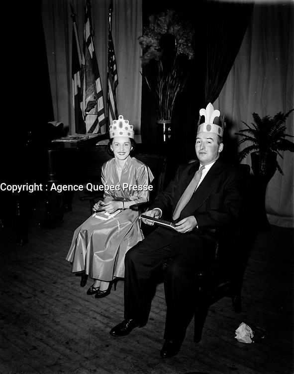 La fete des rois,  28 janvier 1957<br /> , Quebec, <br /> <br /> PHOTO  : Agence Quebec Presse