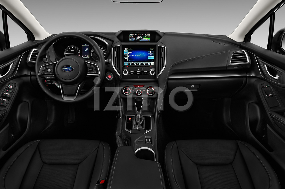 Stock photo of straight dashboard view of 2018 Subaru Impreza 2.0i-Limited-CVT-PZEV 4 Door Sedan Dashboard