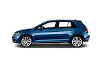 Car driver side profile view of a 2014 Volkswagen Golf SEL 5 Door Hatchback