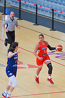 Tayra Melendez (1) of Puerto Rico pictured during a basketball game between the national teams of Puerto Rico and Serbia on Sunday 30 th of May 2021 in Kortrijk , Belgium . PHOTO SPORTPIX.BE | SPP | STIJN AUDOOREN