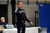 27-03-2021: Volleybal: Amysoft Lycurgus v Draisma Dynamo: Groningen Lycurgus coach Arjan Taaij