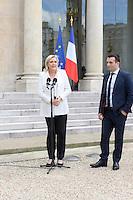 Paris (75),Le President de la Republique, Franeois HOLLANDE, recoit samedi 25 juin 2016 les representants des partis politiques francais au Palais de l Elysee. Front National Marine LE PEN, Florian PHILIPPOT