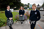 Rosie Kennelly, Chloe Stuard and Layla Benziada, Presentation secondary school Tralee who sat Leaving certificate paper 1 on Wednesday.