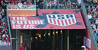 CARSON, CA - FEBRUARY 1: USMNT, One Nation One Team during a game between Costa Rica and USMNT at Dignity Health Sports Park on February 1, 2020 in Carson, California.