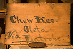 Chew Kee Store (Chinese herb store) once owned by Chinese doctor Chew Kee during the California Gold Rush, then cared for by Jimmy Chow, adopted son until his death in 1965 in the town formally known as Oleta.