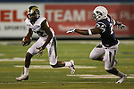 Colorado State's Rashard Higgins (82) competes against Nevada's Charles Garrett (24) during the second half of an NCAA college football game in Reno, Nev., on Saturday, Oct. 11, 2014. (AP Photo/Cathleen Allison)