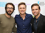 """Josh Groban, Josh Canfield and Hunter Ryan Herdlicka backstage at the New York Musical Festival production of  """"Alive! The Zombie Musical"""" at the Alice Griffin Jewel Box Theatre on July 29, 2019 in New York City."""
