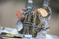 Dekoration mit Rinde, Rinden, Verpackung, Geschenk, Naturmaterialien, Deko, Lifestyle