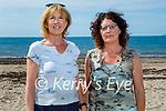 Enjoyng a stroll on Derrymore beach on Saturday, l to r: Ann Lucid Daly and Mary Ellen Fitzgerald.