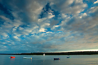 Findhorn Bay and Culbin Forest at dusk, Moray