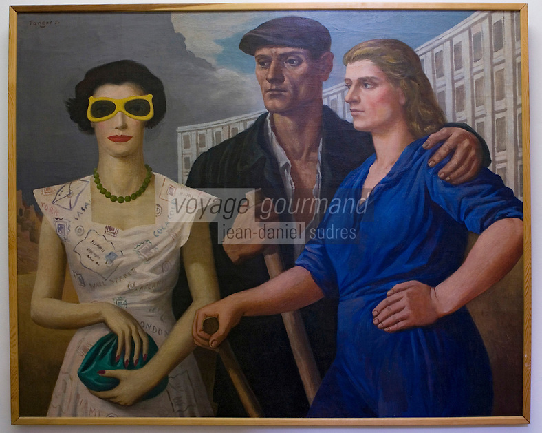 Europe/Pologne/Lodz: Musée D'art Moderne dans le Palais de Maurice Poznanski -tableau du réalisme socialiste de Wojciech Fangor