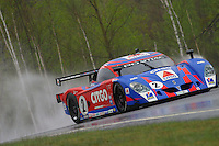 The #2 Pontiac Crawford of Andy Wallace, Milka Duno and Jan Lammers races through the rain at the 6 Heueres du Circuit Mont-Tremblant in Mont-Tremblant, Qubec, Canada, on Saturday, May 21, 2005. (Photo by Brian Cleary/www.bcpix.com)