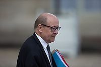 French Foreign Affairs Minister Jean-Yves Le Drian leaves the Elysee presidential palace following the weekly cabinet meeting on Wednesday, 28 June 2017 in Paris # CONSEIL DES MINISTRES DU 28/06/2017