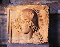 Fragment of Roman sculpture exhibited in the informal museum in Petra, Jordan. The Romans were one of several conquerors and inhabitants of Petra in ancient times