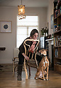 07/03/18<br /> <br /> Alice Munro, Business Partner at Full Grown, sits on the company's first finished chair - photographed with her dog Lina<br /> <br /> As seen here: <br /> http://www.dailymail.co.uk/news/article-5587659/Willows-transformed-seats-seven-years-available-buy-5-000.html<br />   <br /> All Rights Reserved F Stop Press Ltd. +44 (0)1335 344240 +44 (0)7765 242650  www.fstoppress.com