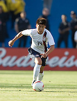 Lee Nguyen dribbles upfield. The USA defeated China, 4-1, in an international friendly at Spartan Stadium, San Jose, CA on June 2, 2007.