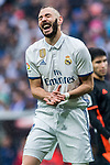Karim Benzema of Real Madrid reacts during their La Liga match between Real Madrid and Valencia CF at the Santiago Bernabeu Stadium on 29 April 2017 in Madrid, Spain. Photo by Diego Gonzalez Souto / Power Sport Images