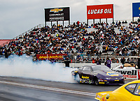 Sep 1, 2017; Clermont, IN, USA; NHRA pro stock driver Vincent Nobile during qualifying for the US Nationals at Lucas Oil Raceway. Mandatory Credit: Mark J. Rebilas-USA TODAY Sports