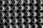 Batteries In Rows Close-Up View