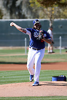Chris Perez of the Los Angeles Dodgers participates in spring training workouts at Camelback Ranch on February 11, 2014 in Glendale, Arizona (Bill Mitchell)