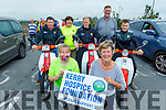 Attending the West Kerry Honda 50 and Classic Bike Run in aid of the Kerry Hospice in Blennerville on Sunday. Kneeling: Andrea O'Donoghue and Maura O'Sullivan. Back l to r: Richard Ronan, Joan Devane, Tim Daly, John and Sean Kerins.