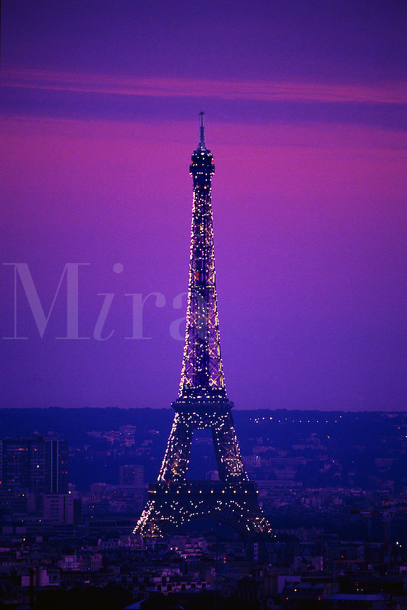 Eiffel Tower at dusk Paris France