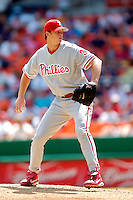 4 September 2005: Gavin Floyd, pitcher for the Philadelphia Phillies, on the mound against the Washington Nationals. The Nationals defeated the Phillies 6-1 at RFK Stadium in Washington, DC. Mandatory Photo Credit: Ed Wolfstein.
