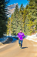 Running in the Banff National Park, Alberta, Canada