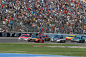 2017 Monster Energy NASCAR Cup Series<br /> O'Reilly Auto Parts 500<br /> Texas Motor Speedway, Fort Worth, TX USA<br /> Sunday 9 April 2017<br /> Martin Truex Jr, Bass Pro Shops/TRACKER BOATS Toyota Camry Ryan Blaney<br /> World Copyright: Matthew T. Thacker/LAT Images<br /> ref: Digital Image 17TEX1mt1417