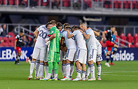 WASHINGTON, DC - MAY 13: Chicago Fire FC huddle before a game between Chicago Fire FC and D.C. United at Audi FIeld on May 13, 2021 in Washington, DC.