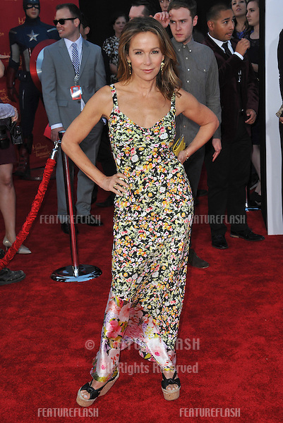 """Jennifer Grey at the world premiere of """"Avengers: Age of Ultron"""" at the Dolby Theatre, Hollywood.<br /> April 13, 2015  Los Angeles, CA<br /> Picture: Paul Smith / Featureflash"""