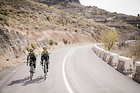 Esteban Chaves (COL/Mitchelton-Scott) & Mikel Nieve (ESP/Mitchelton-Scott) during the Mitchelton-Scott training camp in Almeria, Spain<br /> <br /> february 2019<br /> <br /> ©kramon