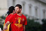02.07.2012. Xavi Alonso during Tour of Madrid of the Spanish football team to celebrate their victory in Euro 2012 july 2012.(ALTERPHOTOS/ARNEDO)