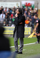 ATTENTION SPORTS PICTURE DESK<br /> Pictured: Paulo Sousa Manager of Swansea City in action<br /> Re: Coca Cola Championship, Swansea City Football Club v Newcastle United at the Liberty Stadium, Swansea, south Wales. 13 February 2010