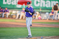 Grand Junction Rockies starting pitcher Ryan Feltner (28) during a game against the Ogden Raptors at Lindquist Field on September 7, 2018 in Ogden, Utah. The Rockies defeated the Raptors 8-5. (Stephen Smith/Four Seam Images)