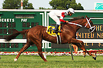 July 05 2015: Breeders Cup Contender Shining Copper in  the Grade I United Nations Stakes for 3-year olds & up, going 1 3/8 mile on the turf, at Monmouth Park. Owner Kenneth & Sarah Ramsey. Sue Kawczynski/ESW/CSM