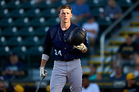 Tampa Tarpons Ben Rice (24) bats during Game Two of the Low-A Southeast Championship Series against the Bradenton Marauders on September 22, 2021 at LECOM Park in Bradenton, Florida.  (Mike Janes/Four Seam Images)