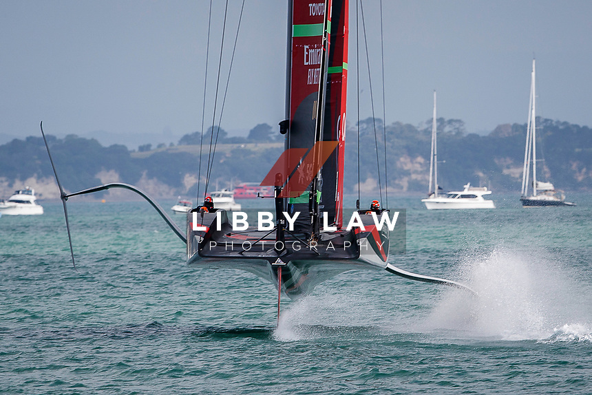 Emirates Team New Zealand VS INEOS TEAM UK in race 8 of the Round Robin competition of the PRADA America's Cup World Series in Auckland, New Zealand on Friday 18th December 2020. Copyright Photo: Libby Law Photography