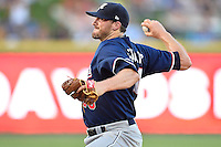 Reno Aces pitcher Bo Schultz (30) fires a pitch during pacific coast league baseball game, Friday August 15, 2014 in Round Rock, Tex. Reno defeats Round Rock 11-9 to sweep three game series. (Mo Khursheed/TFV Media via AP Images)