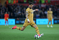 Kyle Walker of Tottenham Hotspur crosses the ball into the box during the Premier League match between Swansea City and Tottenham Hotspur at The Liberty Stadium, Swansea, Wales, UK. Wednesday 05 April 2017