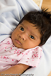 newborn baby girl one month old  Mexican American portrait closeup vertical