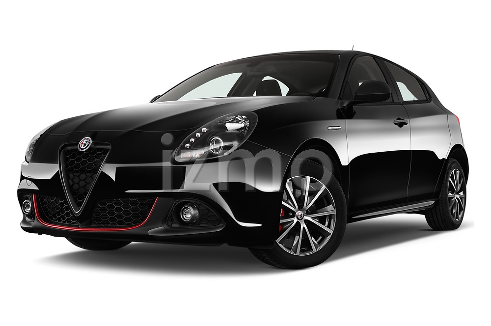 Stock pictures of low aggressive front three quarter view of 2016 Alfaromeo Giulietta Super 5 Door Hatchback Low Aggressive