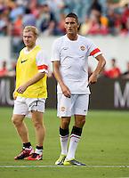 Federico Macheda. Manchester United defeated Philadelphia Union, 1-0.