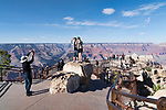 Viewpoint, Grand Canyon National Park, Arizona, USA.<br /> South Rim near visitor center at Mather Point.