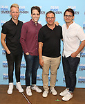 Justin Paul, Steven Levenson, Michael Greif and Benj Pasek attends the National Tour Photo Call for 'Dear Evan Hansen' on September 6, 2018 at the New 42nd Street Studios in New York City.