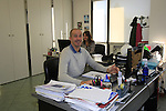 Alberto sales staff hard at work in their office Santini Factory, Lallio, Italy. 30th September 2015.<br /> Picture: Eoin Clarke | Newsfile